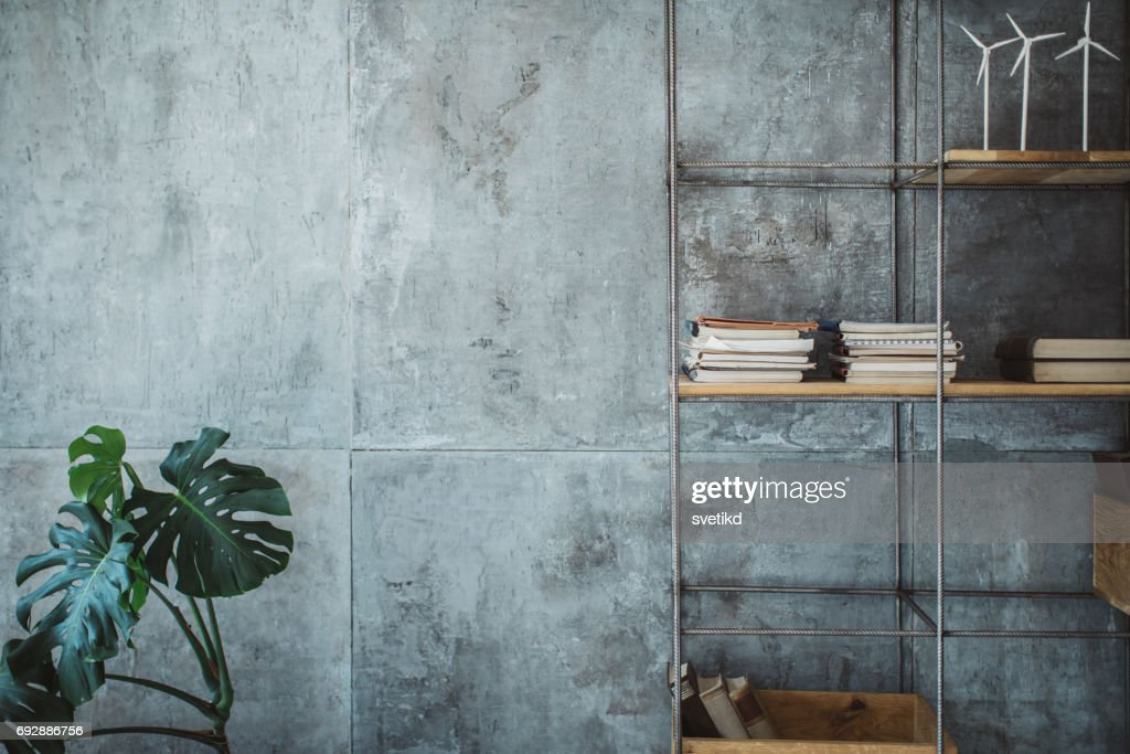 Empty modern office space : Stock Photo