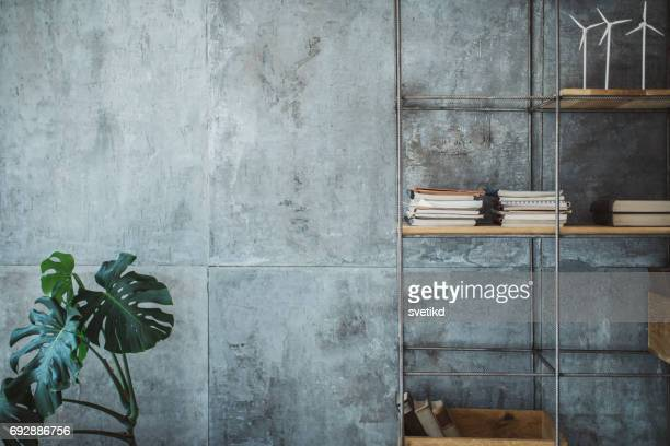 empty modern office space - gray color stock photos and pictures