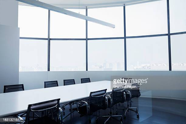 Empty modern office with conference table