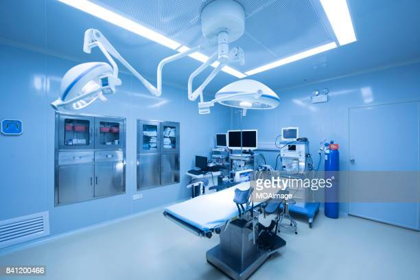 empty modern operation room - hospital equipment stock photos and pictures