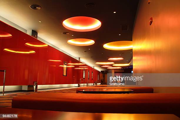 empty modern red hall - entertainment club stock pictures, royalty-free photos & images