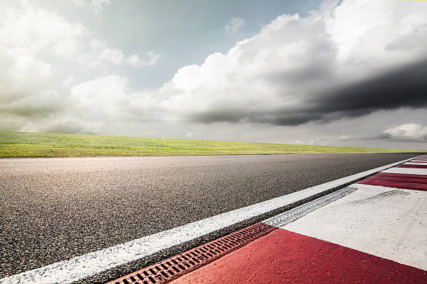 Empty Motor Racing Track Wall Art