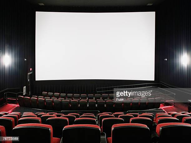 Empty Movie Theater and Screen