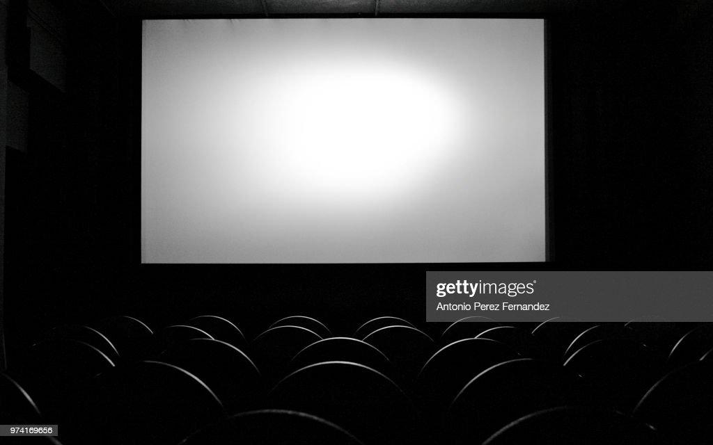 Empty movie theater, Berlin, Germany : Stock Photo