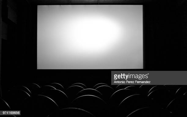 empty movie theater, berlin, germany - projection screen stock pictures, royalty-free photos & images