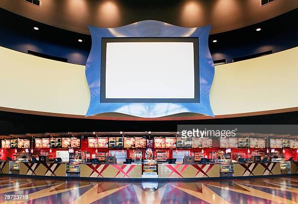 empty movie theater lobby - キオスク ストックフォトと画像