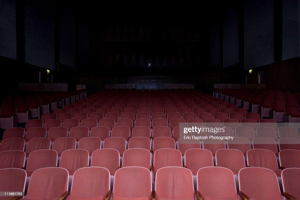 Empty movie theater : Stock Photo