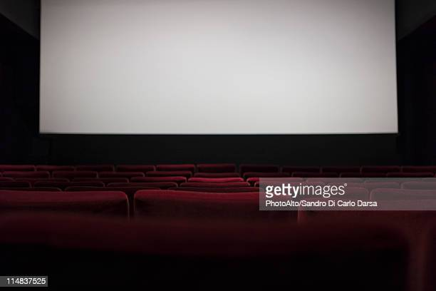 empty movie theater - projection screen stock pictures, royalty-free photos & images