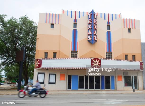 Empty movie theatre.