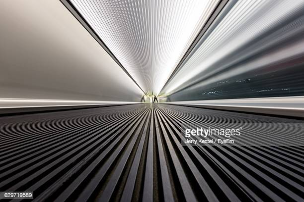 Empty Moving Walkway At Airport