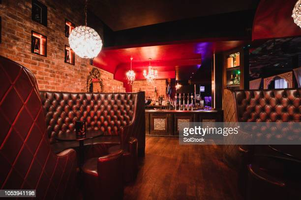 empty nightclub at night - pub stock pictures, royalty-free photos & images