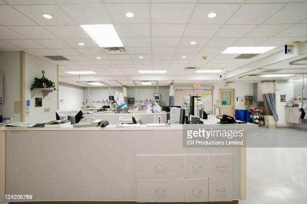 Vide Bureau des infirmières à l'hôpital