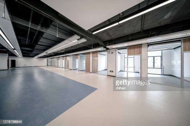 empty office and modern new building - ceiling stock pictures, royalty-free photos & images