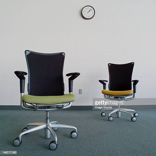 Empty office chairs in office