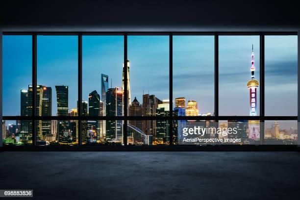 Empty Office Overlooking Shanghai