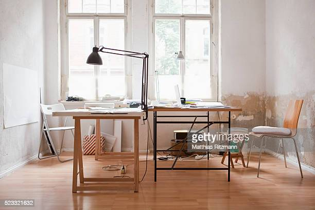 empty office - art studio stock pictures, royalty-free photos & images