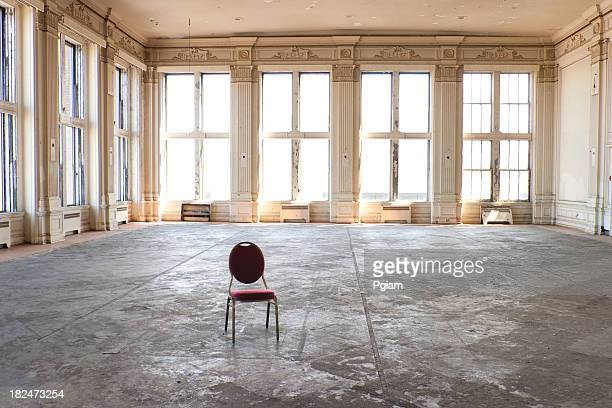 empty old ballroom - abandoned stock pictures, royalty-free photos & images