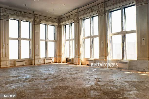 empty old ballroom - loft stock photos and pictures