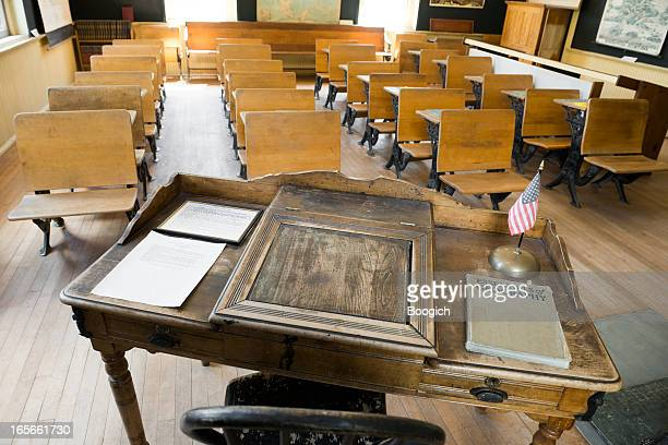 Empty Old Fashioned Classroom