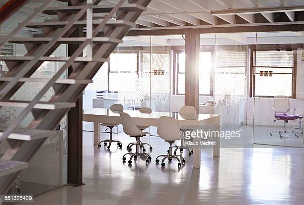 empty open meeting room at design agency - loft stock photos and pictures