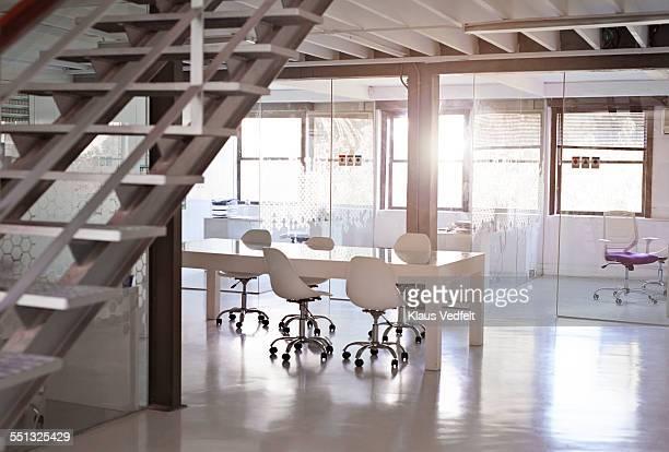 Empty open meeting room at design agency