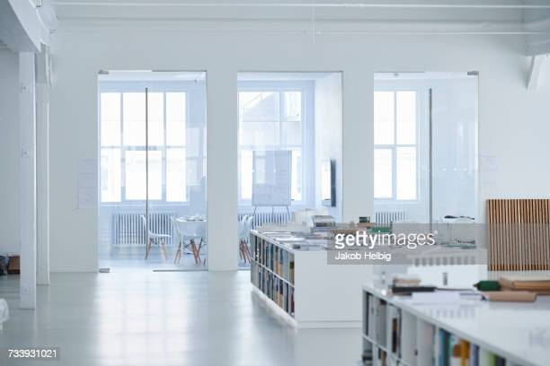 empty open plan office - brightly lit stock pictures, royalty-free photos & images