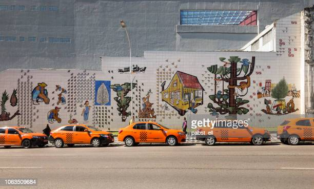 empty orange taxi line curitiba paraná - parana state stock pictures, royalty-free photos & images
