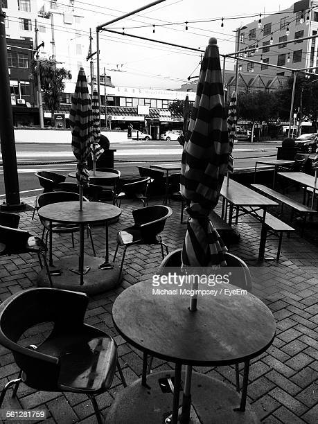 Empty Outdoor Cafe