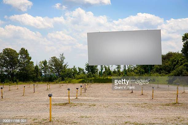 Empty outdoor drive-in movie