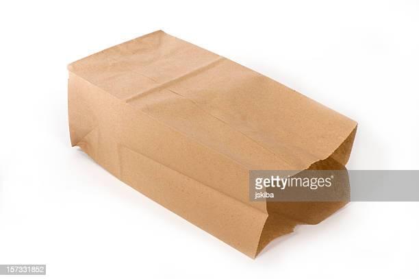 Leere Papier Mittagessen-Tasche an der Seite