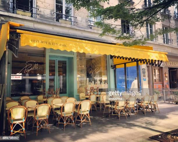 Leeren Paris Restaurant am frühen Morgen, Frankreich