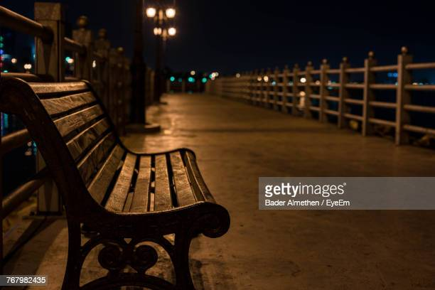 Park Bench At Night Stock Photos And Pictures