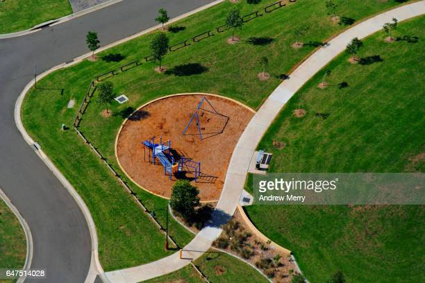 Empty park, West Hoxton, Western Sydney, Aerial Photography