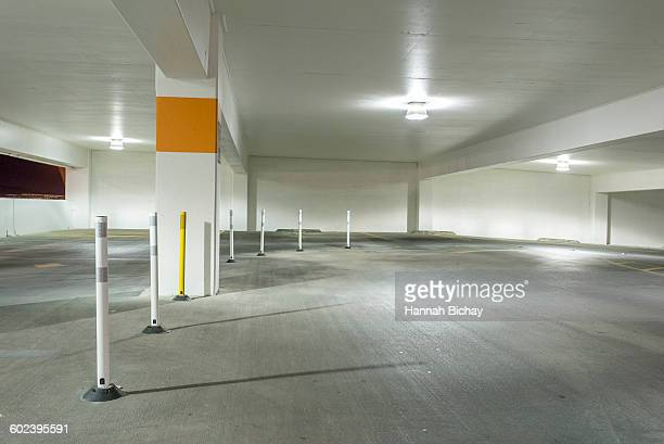 empty parking garage exit