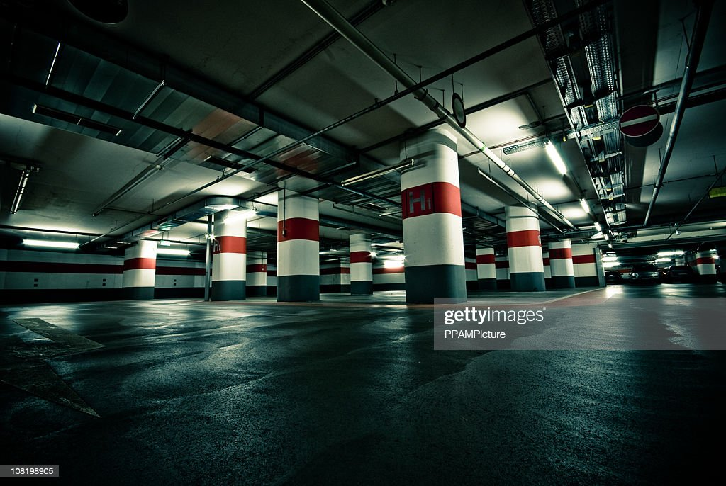 Empty Parking Garage : Stock Photo