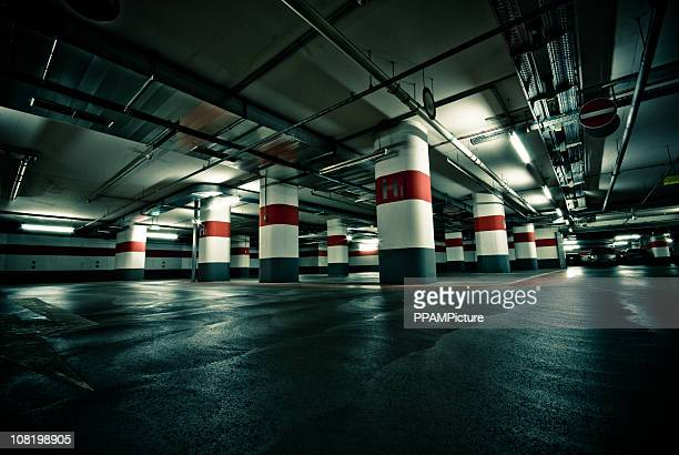 empty parking garage - parking garage stock pictures, royalty-free photos & images