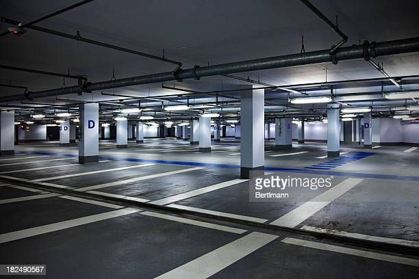 empty parking garage - bare bottom stock pictures, royalty-free photos & images