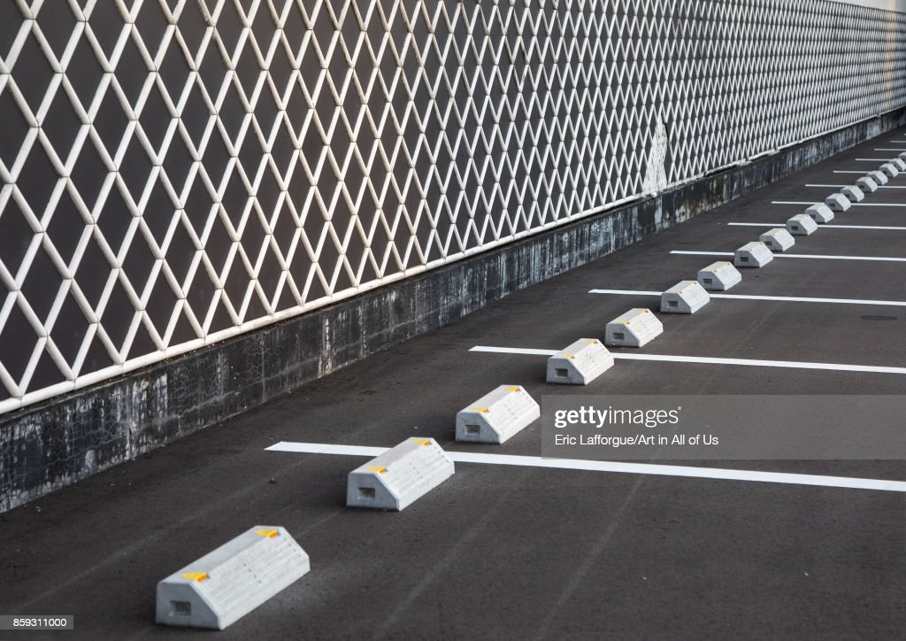 Empty parking lot, Hypgo Prefecture, Himeji, Japan... : News Photo
