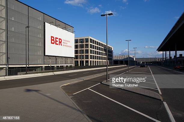 Empty parking lot in front of the terminal building of the Berlin Brandenburg airport on April 28 2014 in Berlin Germany The inauguration of the...