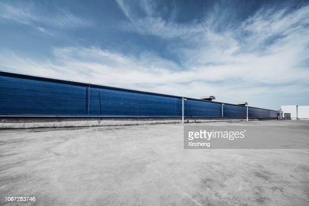 empty parking lot - tarmac stock pictures, royalty-free photos & images