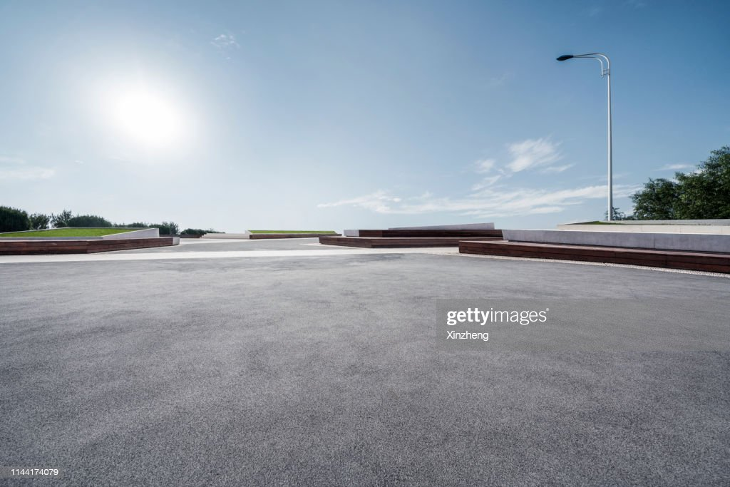 Empty Parking Lot : Stock Photo