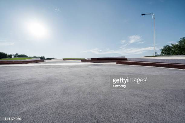 empty parking lot - car park stock pictures, royalty-free photos & images