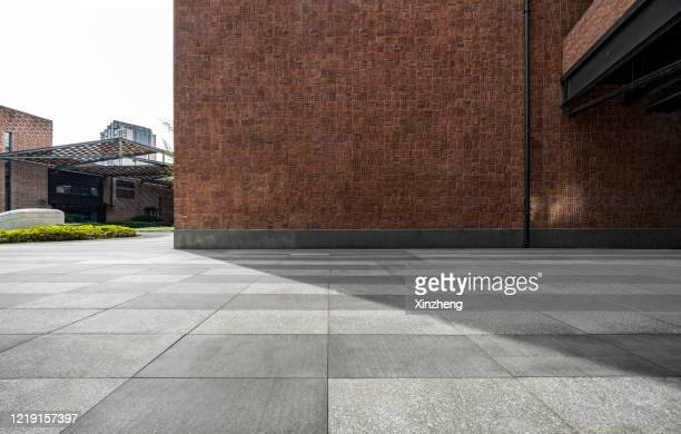 empty parking lot - street stock pictures, royalty-free photos & images