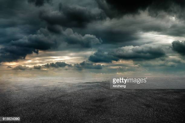 empty parking lot - apocalypse stock pictures, royalty-free photos & images