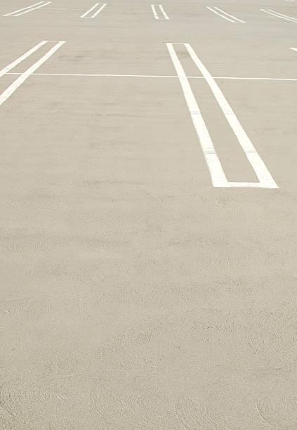 Empty parking lot spaces