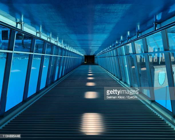 empty passenger boarding bridge at airport - passenger boarding bridge stock pictures, royalty-free photos & images
