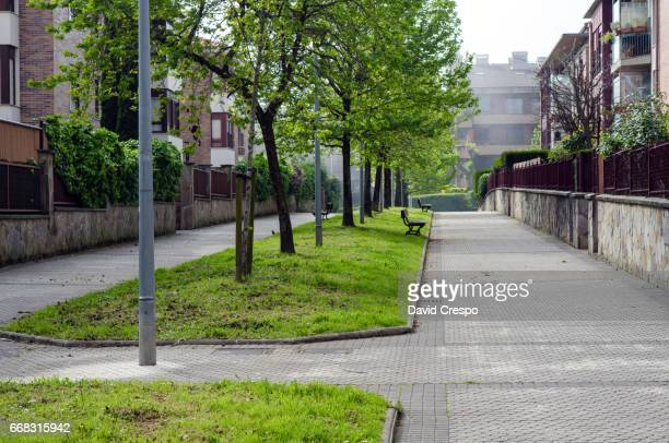 Empty pedestrian street