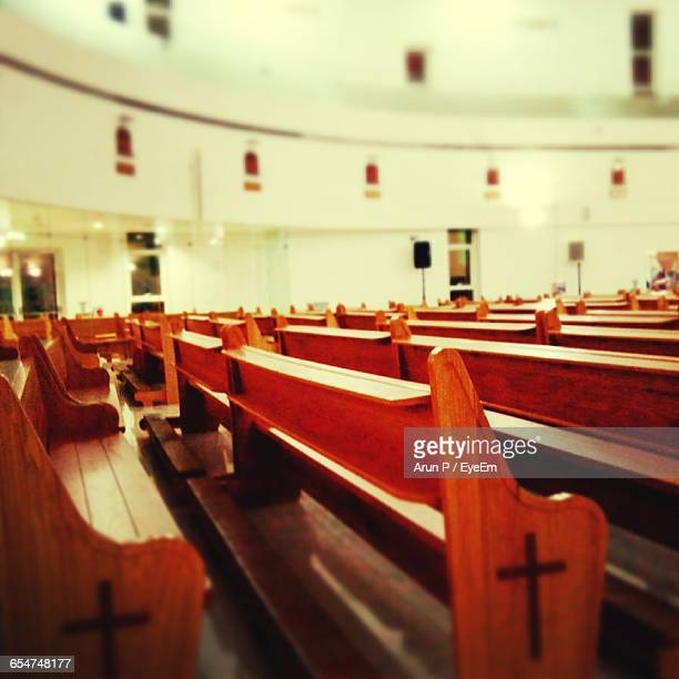Empty Pews In Church