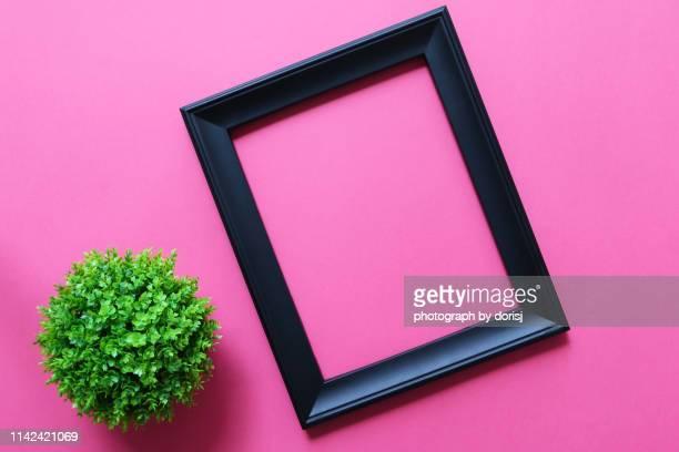 empty photo frame with copy space - citation photos et images de collection