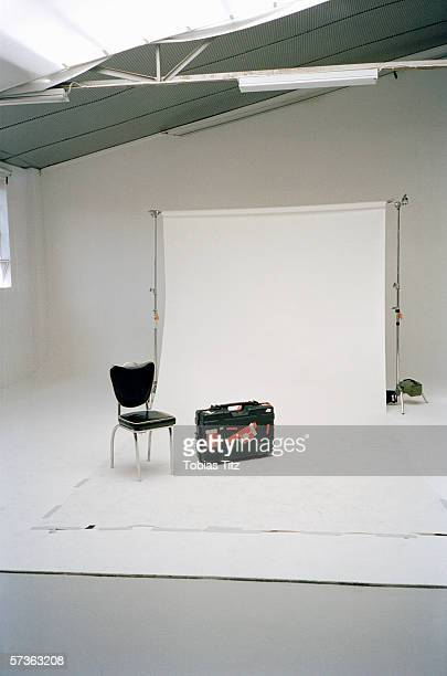 Empty photography studio